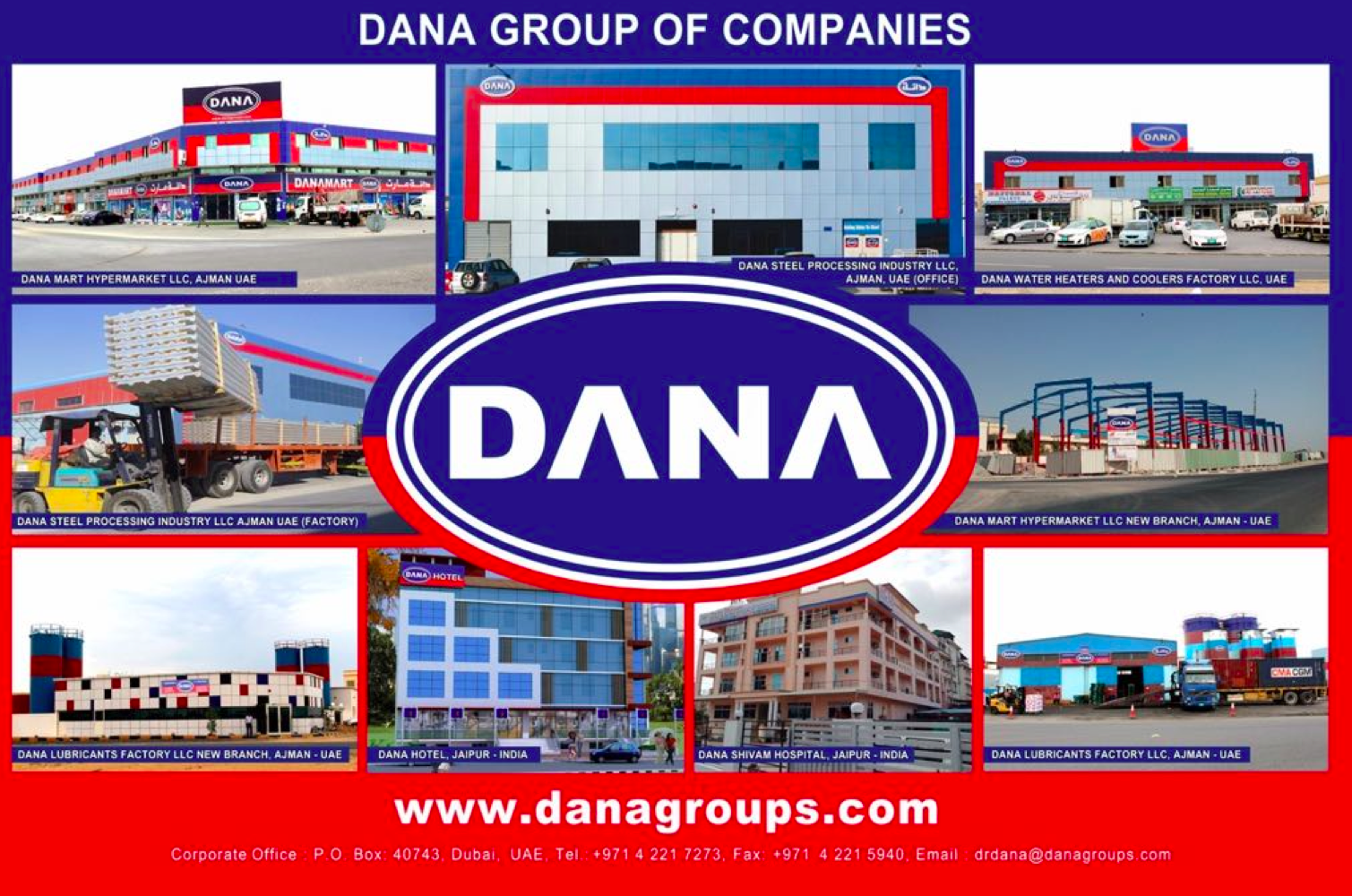 Oman Profile Sheet Supplier | Dana Group:-A well established