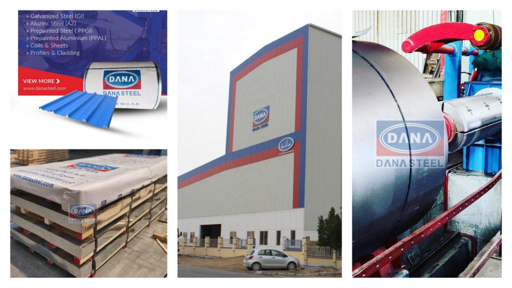 Gi Coils PPGi COils PPGL AZ Coils & Sheets Supplier Manufacturer DANA STEEL UAE Africa