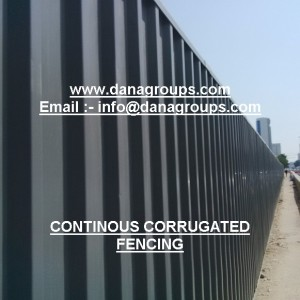 QRAIL_QATAR METRO CONTINOUS CORRUGATED STEEL FENCING FOR PERIMETER