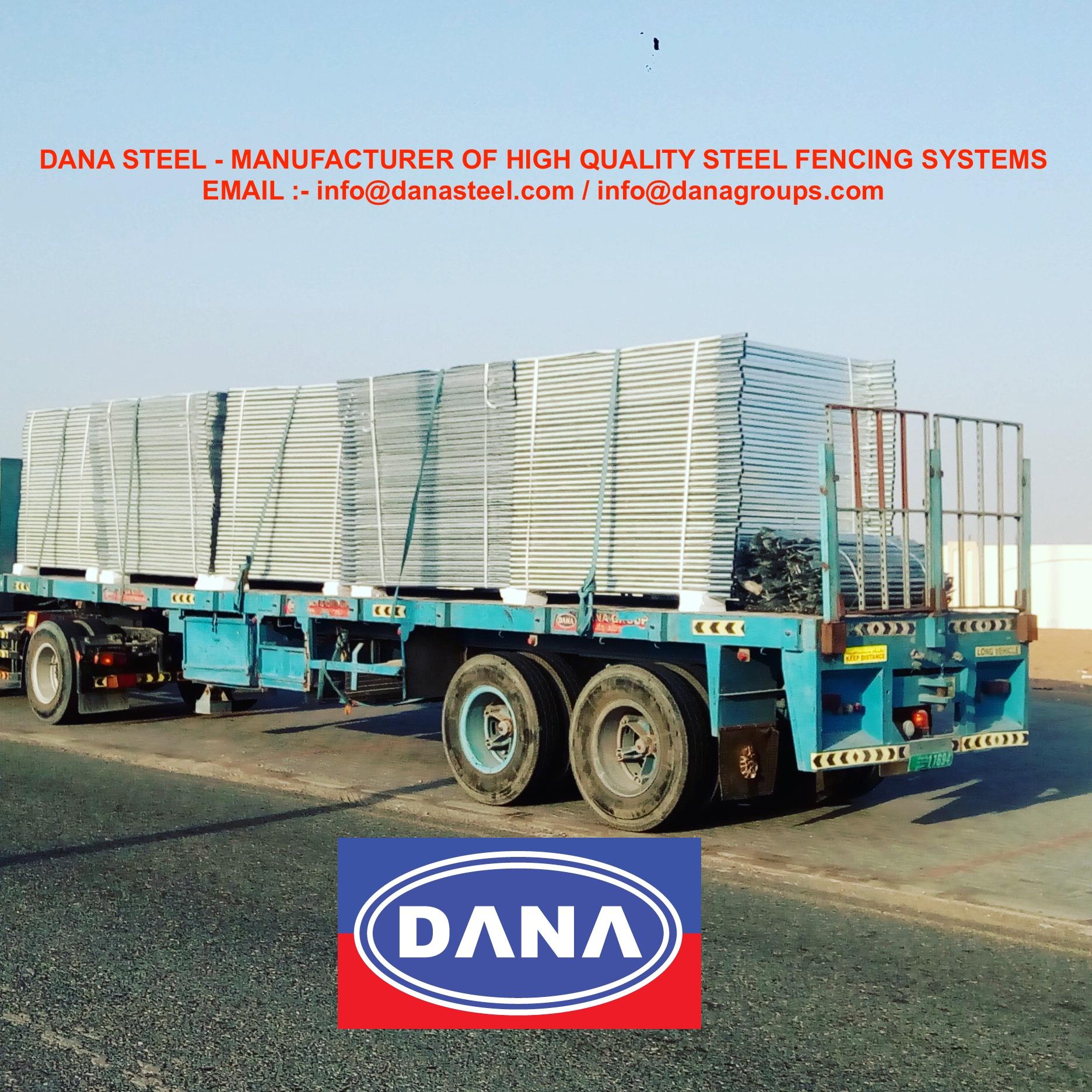 Dana Steel Fencing Hoarding Temporary Panel Corrugated Uae