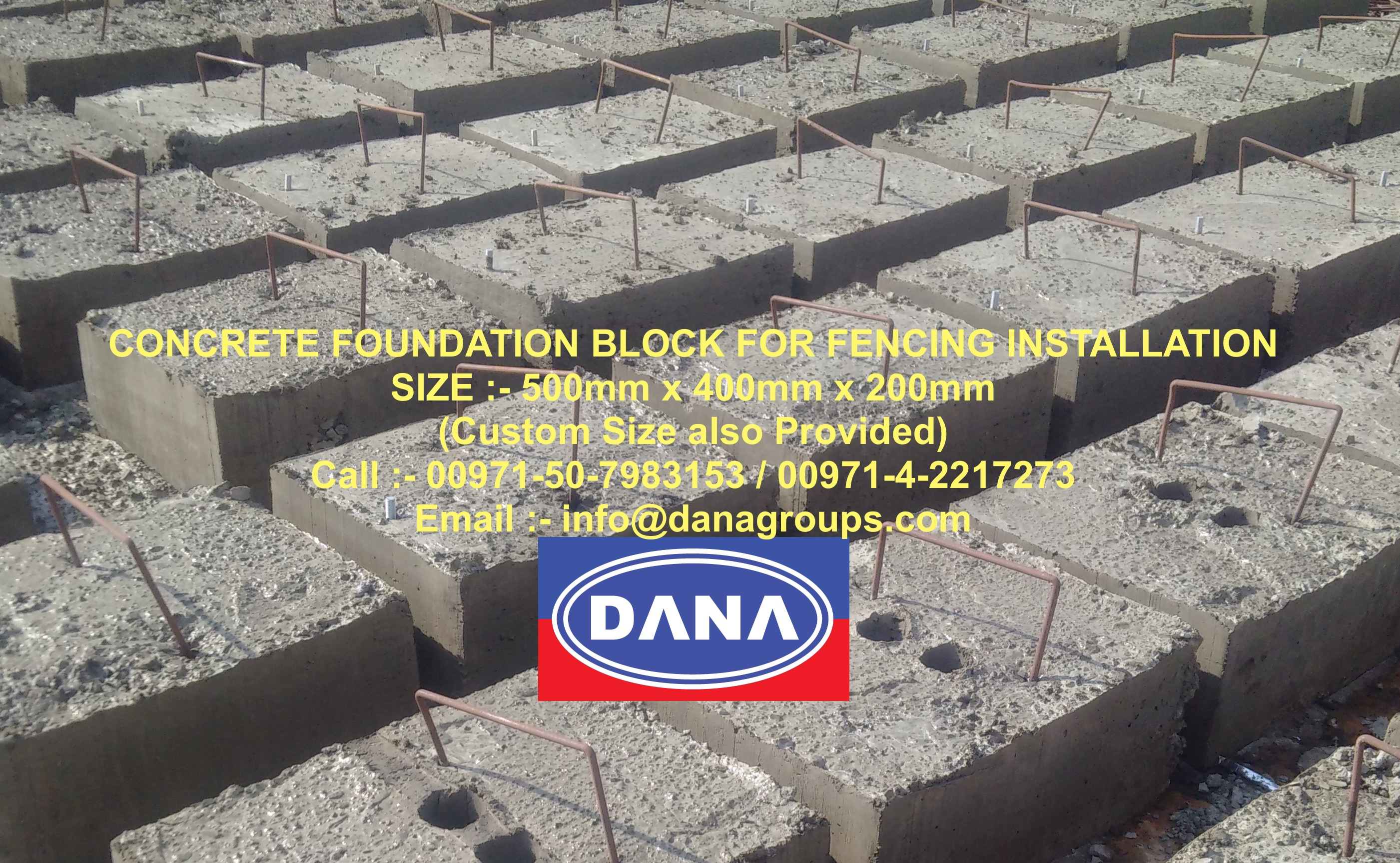Fencing supplier installer contractor steel corrugated for Concrete block foundation
