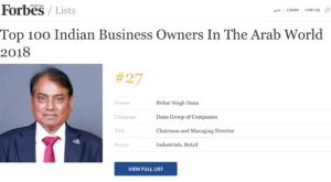 forbes middle east top indian business owners list 2018