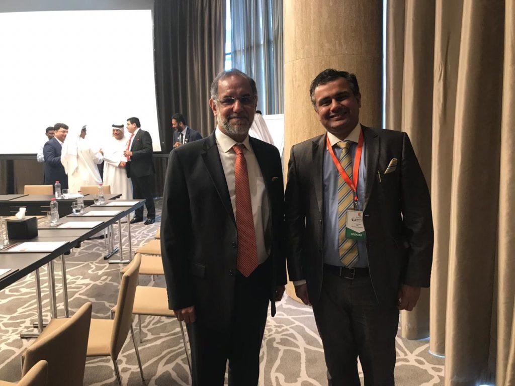 Dr Ankur Dana With Navdeep Suri Ambassador of INDIA to UAE
