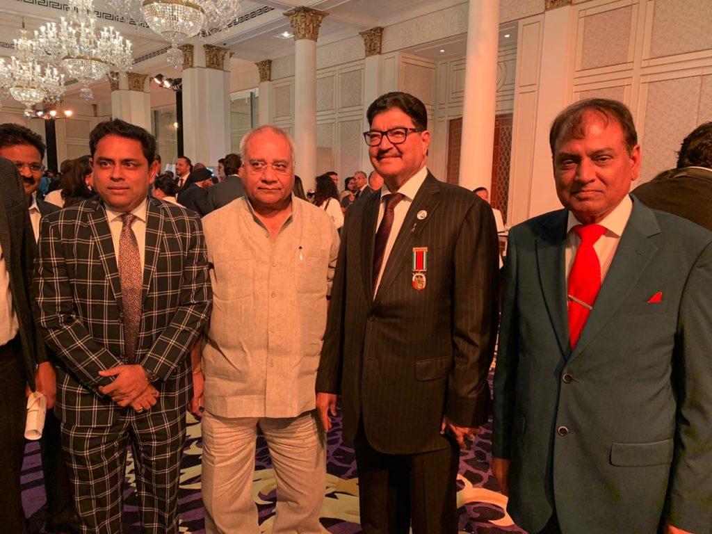 Dr Birbal Singh Dana , Dr B R Shetty , Mr Sudhir Goyal at Forbes 2019 events