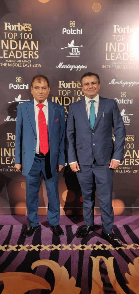 Dr Birbal Singh Dana - Dr Ankur dana Top 100 Indian Leaders. Forbes Next Gen 2019